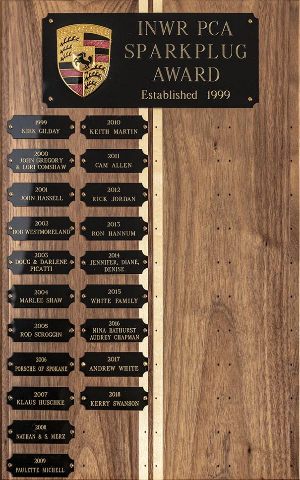 Sparkplug award